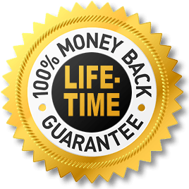 100% Money Back Life-time Guarantee
